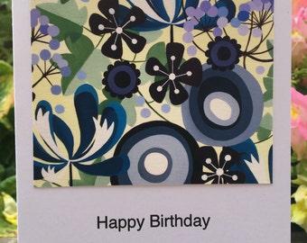 Shades of Blue Greetings Card