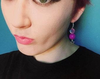 Starry Eyes Drop Earrings
