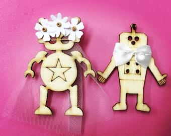 Bride and Groom Fridge Magnets