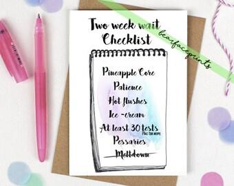Greeting card - 2ww checklist