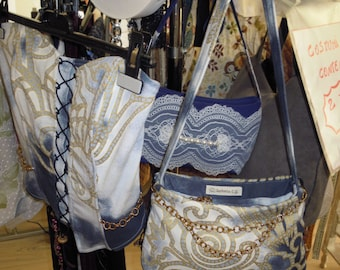 jeans bag printed-matched Bustier available