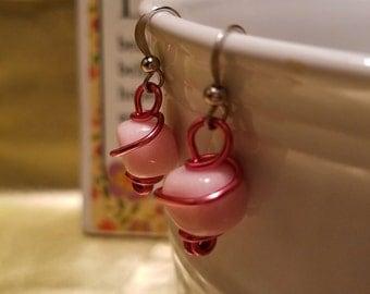 Pink Minimalist Style Earrings
