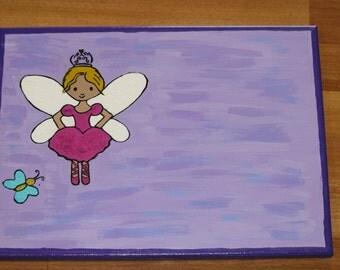 Princess fairy room decor, Princess wall art, fairy wall art, fairy painting, Princess nursery ,  little girls room