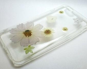 Pressed Flower Iphone 6 plus /6s plus Case (purple and white tone)