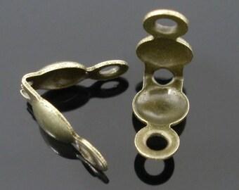 50 crimp beads - 8 * 4 mm - bronze / F1-0460