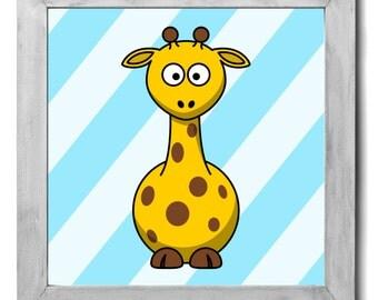 Giraffe Print - Kids Room Decor, Kids Wall Art, Kids Art, Nursery Decor, Nursery Art, Nursery Wall Art, Zoo Animal Prints, Baby Animal Art