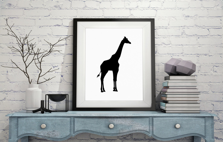 Giraffe silhouette print modern art minimalist art giraffe print gallery photo gallery photo gallery photo amipublicfo Gallery