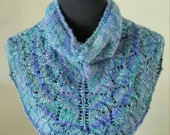 Hand Made, Hand Knit Shimmery Cowl, Women's Accessory, Unique