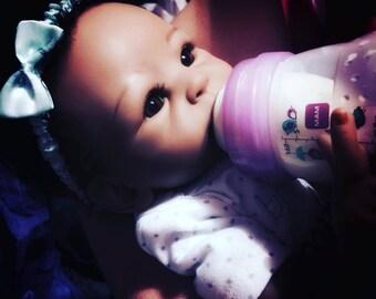 Purple Sealed Bottle of Fake Milk for Reborn Babies Dolls