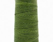 10 meters ≈ 11 yards / 1mm Forest Green Waxed Cord / Cotton Waxed Cord