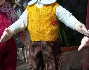 Zisa doll boy with knickerbocker