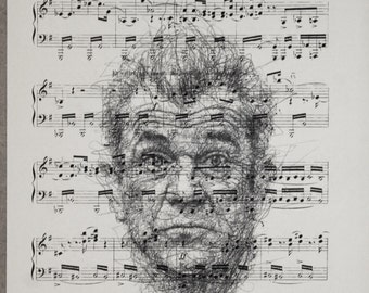 Printing / Antique sheet Music /Mel  Gibson/ Hand made decor interior picture ART