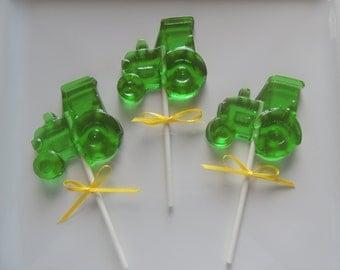 Tractor Lollipops John Deere Farm Birthday 8 Party Favors Candy