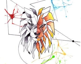 Geometic Lion