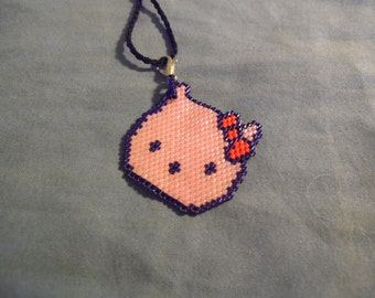 "Hello Kitty Pendent with 29"" neck cord"