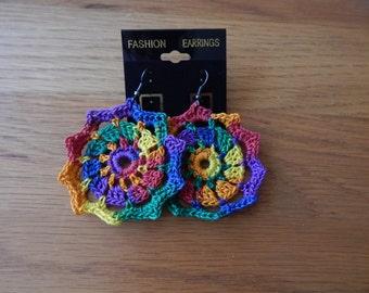 Mandala Rainbow Earrings