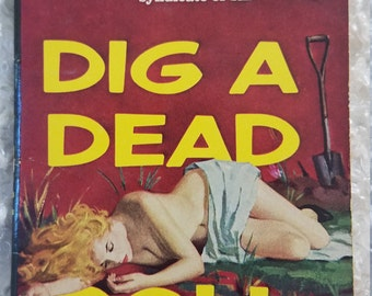 RARE Honey West Dig a Dead Doll pulp fiction classic novel