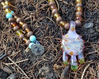 Uranium Lilac Pendant w/ Full Necklace