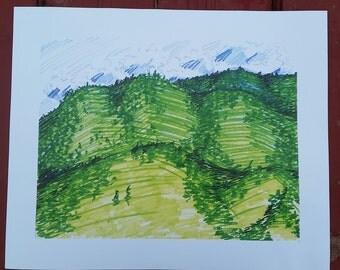 Oregon Hills, print