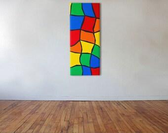 Twisted Path - Acrylic on canvas - 40cm x 98cm