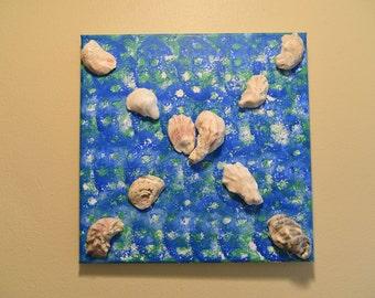 Oyster Heart 12 x 12