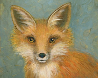 Fox, Oil Painting