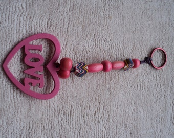 Pink LOVE Keychain