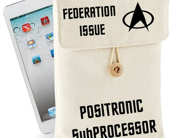 Star Trek Federation Issue Media Case for Your Positronic SubProcessor, Kindle, iPad™ or Tablet, 21 x 26cm, Cotton Canvas, 1066