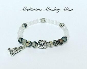 Tassel Mala Bracelet, Yoga, Buddhist, Meditation, Prayer Beads, buddha tassel mala, gift idea, birthday, boho bracelet, boho style, hippie