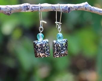 Azure earrings (Silver, Light Blue)