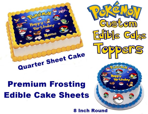 Edible Cake Images Pokemon : Pokemon Custom Edible Image Cake topper