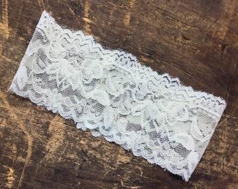 lace ivory wedding garter simple garter stretchy custom wedding garter rustic