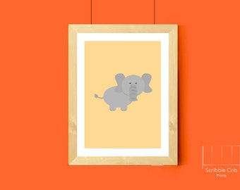 Elephant Nursery Art, Elephant Nursery Print, Boy Elephant Art, Girl Elephant Art, Elephant Animal Print, Baby Elephant Nursery Decor, Print