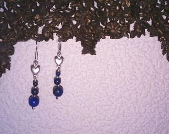 Romantic lapis lazuli earrings