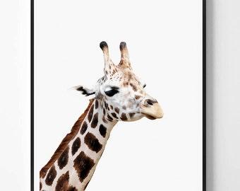Giraffe Print, Giraffe printable Wall Art, Safari animal, Animal print, Animal Decor, Safari African Animal Print, Scandinavian printable