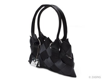 Recycled seatbelts handbag - BLK 93-13