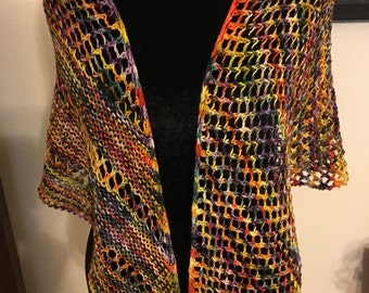 Psychedelic Shawl  Pattern : My Friend Sue by Rose Williams