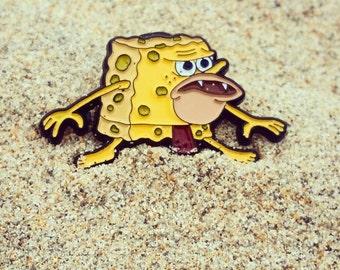 CaveMan Spongebob Enamel Pin