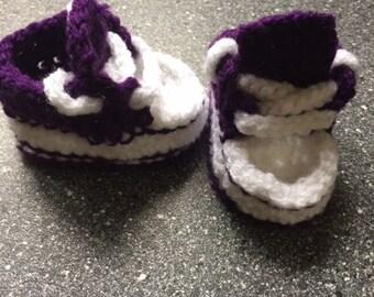 Converse style baby slipper