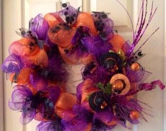 Halloween Wreath, Custom Wreath, Holiday Wreath, Front Door Wreath,