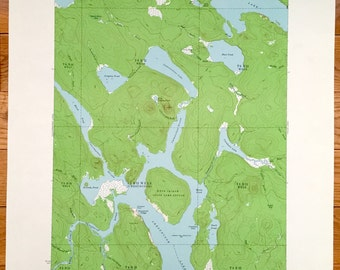 Antique Chesuncook, Maine 1958 US Geological Survey Topographic Map