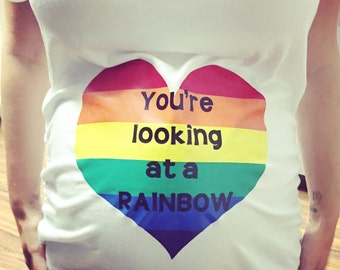 Rainbow baby maternity shirt