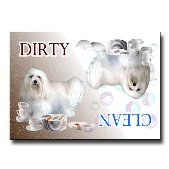 Havanese Clean Dirty Dishwasher Magnet No 1