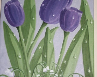 Purple Tulips #103