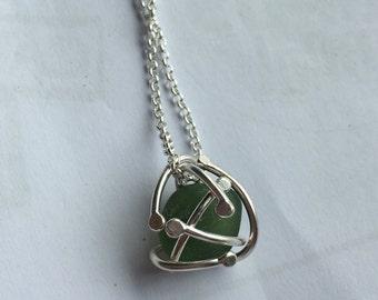 Sea glass green pendant