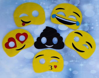 Emoji Dress Up Mask, Party Favor,  Pretend Play,  Costume, Cosplay - Ready to Ship