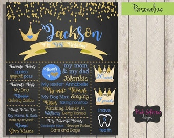 Prince Birthday Chalkboard,  Prince Chalkboard,  Prince Birthday Board, First Birthday, First Birthday Chalkboard Sign, Boy First Birthday