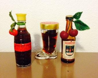Three Miniature Liquor Bottles