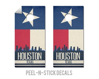 Houston State Flag Skyline Decals