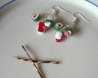 Miniature Sushi Earrings / Dollhouse Food